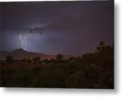 Metal Print featuring the photograph Arizona Monsoon Lightning by Dan McManus