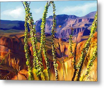 Arizona Superstition Mountains Metal Print by Bob Salo