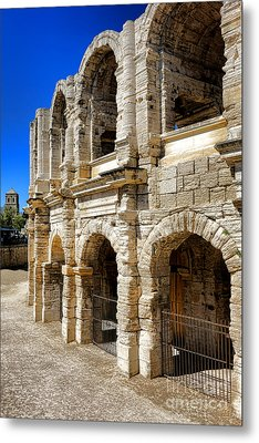 Metal Print featuring the photograph Arles Roman Amphitheater by Olivier Le Queinec