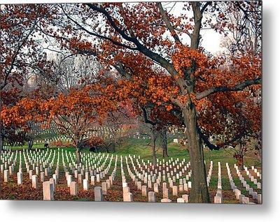 Arlington Cemetery In Fall Metal Print