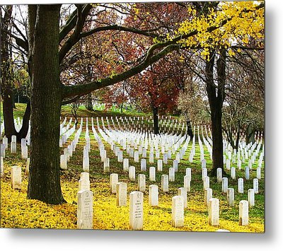 Arlington In Yellow Metal Print by Joyce Kimble Smith