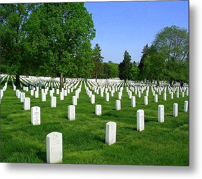 Metal Print featuring the photograph Arlington National Cemetery by Don Struke