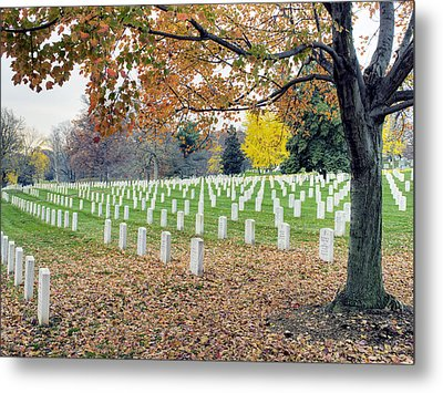 Arlington National Cemetery Virginia Metal Print by Brendan Reals