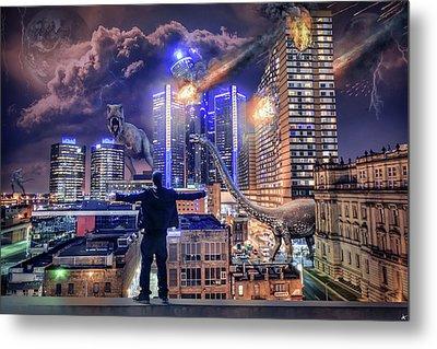 Metal Print featuring the photograph Armageddon Detroit by Nicholas Grunas
