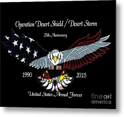 Armed Forces Desert Storm Metal Print by Bill Richards