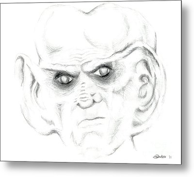 Metal Print featuring the drawing Armin by Kim Sy Ok