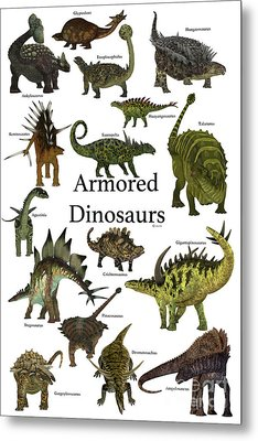Armored Dinosaurs Metal Print by Corey Ford
