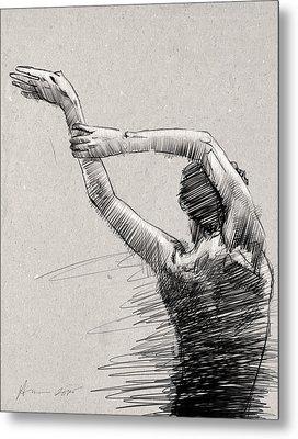 Arms And Shoulders Metal Print by H James Hoff