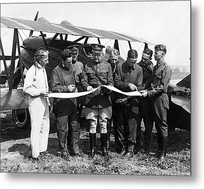 Army Air Service Pilots Metal Print by Underwood Archives