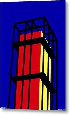Arne Jacobseb Tower Metal Print by Asbjorn Lonvig