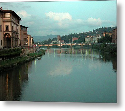 Metal Print featuring the photograph Arno River, Florence, Italy by Mark Czerniec