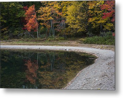 Around The Bend- Hiking Walden Pond In Autumn Metal Print by Toby McGuire