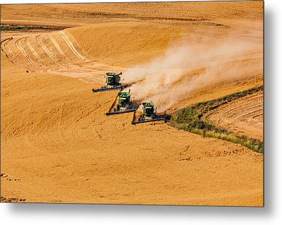 Around The Bend Metal Print by Mary Jo Allen