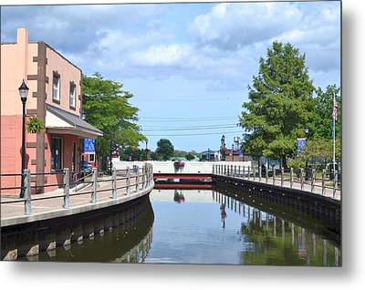 Around The Bend -ispillion River Walk Metal Print by Kim Bemis