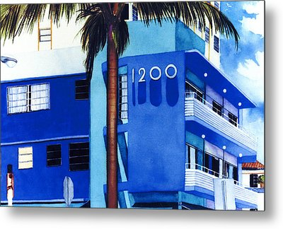 Around Twelve Noon In South Beach Metal Print by Maureen Piccirillo