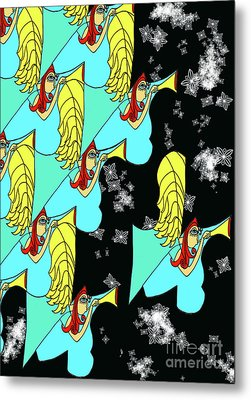 Array Of Angels On A Cold Winters Night Metal Print