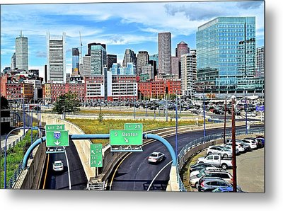 Arriving To Boston Metal Print by Frozen in Time Fine Art Photography