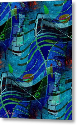 Art Abstract With Culture Metal Print by Sheila Mcdonald