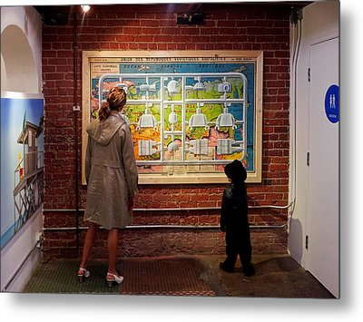 Metal Print featuring the photograph Art Appreciation by Ron Dubin