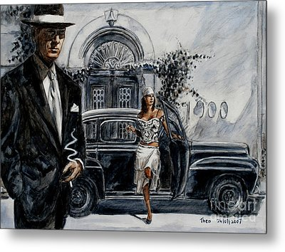 Art Cafe 1900 Metal Print by Theo Michael