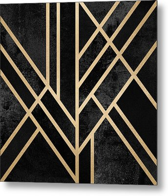 Art Deco Black Metal Print by Elisabeth Fredriksson