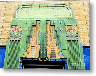 Art Deco Facade At Old Public Market Metal Print