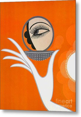 Art Deco Fashion Illustration Metal Print by Tina Lavoie