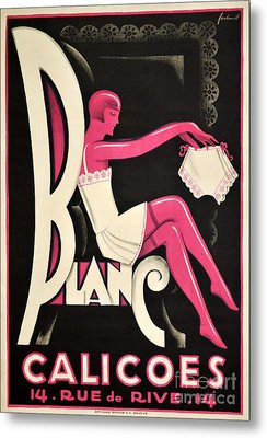 Art Deco Paris Lingerie Ad Metal Print