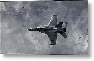 Airplane Metal Print featuring the photograph Art In Flight F-18 Fighter by Aaron Lee Berg