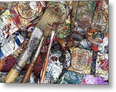 Art Is Messy 5 Metal Print by Carol Leigh