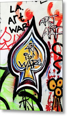 Metal Print featuring the photograph Art Is War by Art Block Collections