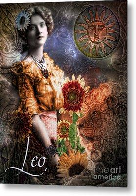 Art Nouveau Zodiac Leo Metal Print