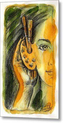 Art Of Listening Metal Print by Leon Zernitsky