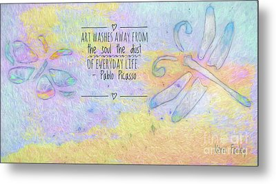 Metal Print featuring the painting Art Washes The Soul by Kerri Farley