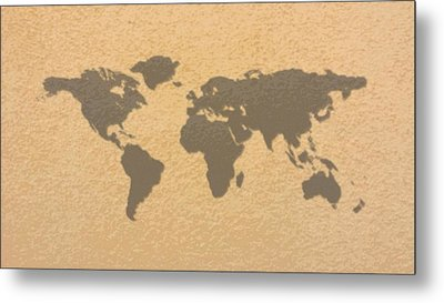 Art World Map 2 Metal Print by Celestial Images