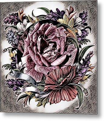 Artful Oasis Digital Art 5 Metal Print by Artful Oasis