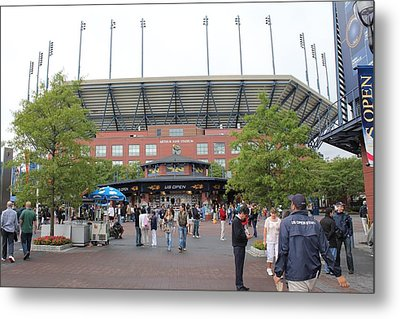 Arthur Ashe Stadium Metal Print by David Grant