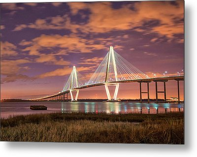 Arthur At Night Metal Print by Donnie Smith