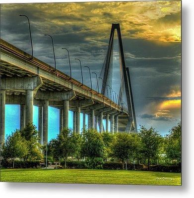 Arthur Ravenel Jr Bridge Charleston South Carolina Art Metal Print by Reid Callaway
