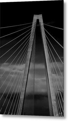 Arthur Ravenel Jr Bridge Metal Print by DigiArt Diaries by Vicky B Fuller