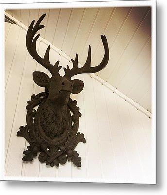 Artificial Deer Antlers Metal Print by Matthias Hauser