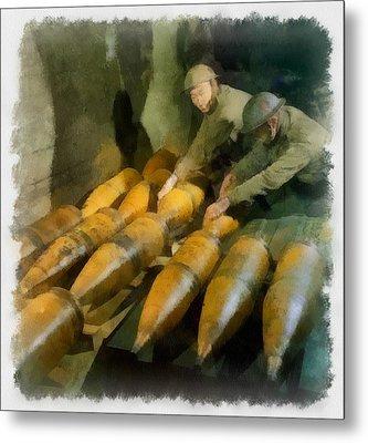Artillery Men Wwii Metal Print