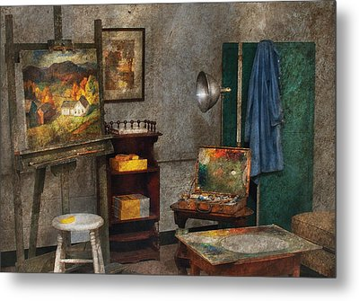 Artist - Painter - The Artists Studio Metal Print by Mike Savad