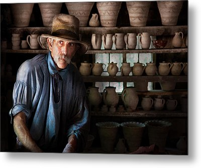 Artist - Potter - The Potter II Metal Print by Mike Savad