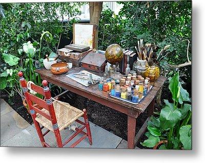 Frida Kahlo's Desk And Chair Metal Print