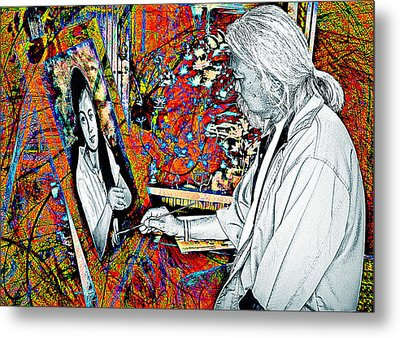 Artist In Abstract Metal Print by Ian Gledhill