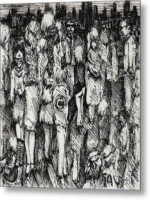 Artist In The City Metal Print by Rachel Christine Nowicki
