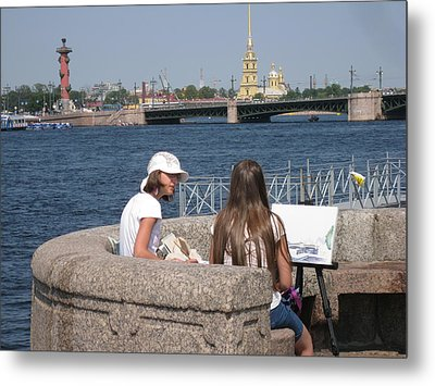 Metal Print featuring the photograph Artist  by Yury Bashkin