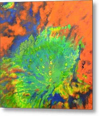 Artistarchus Crater On Moon In Reverse Color Metal Print by Jim Ellis