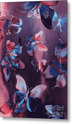 Artistic Colorful Butterfly Design Metal Print